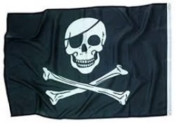 flags of skulls
